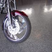 Epoxy in Bike Dealer with paint chips
