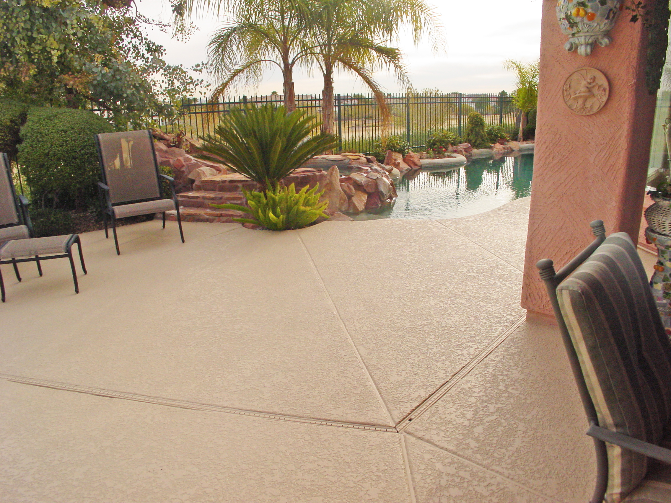 pool deck with Americrete stains and sealer